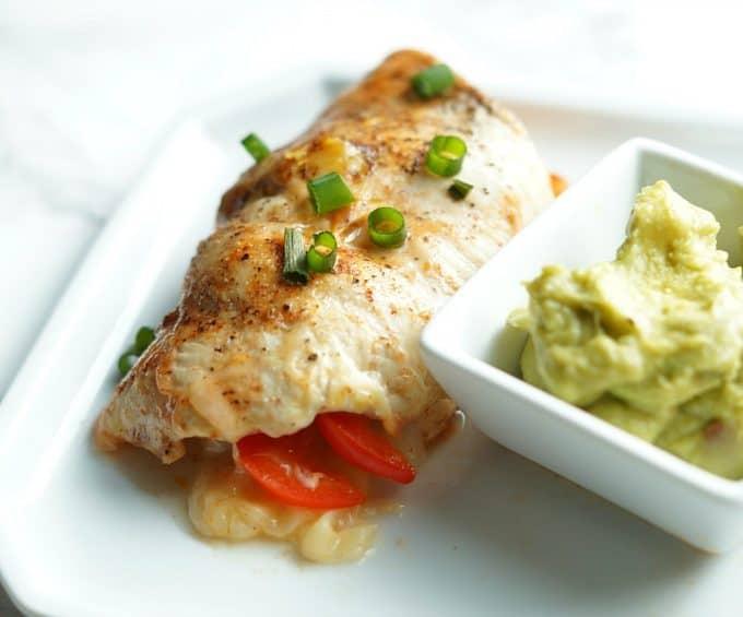 Healthy Fajita Stuffed Chicken