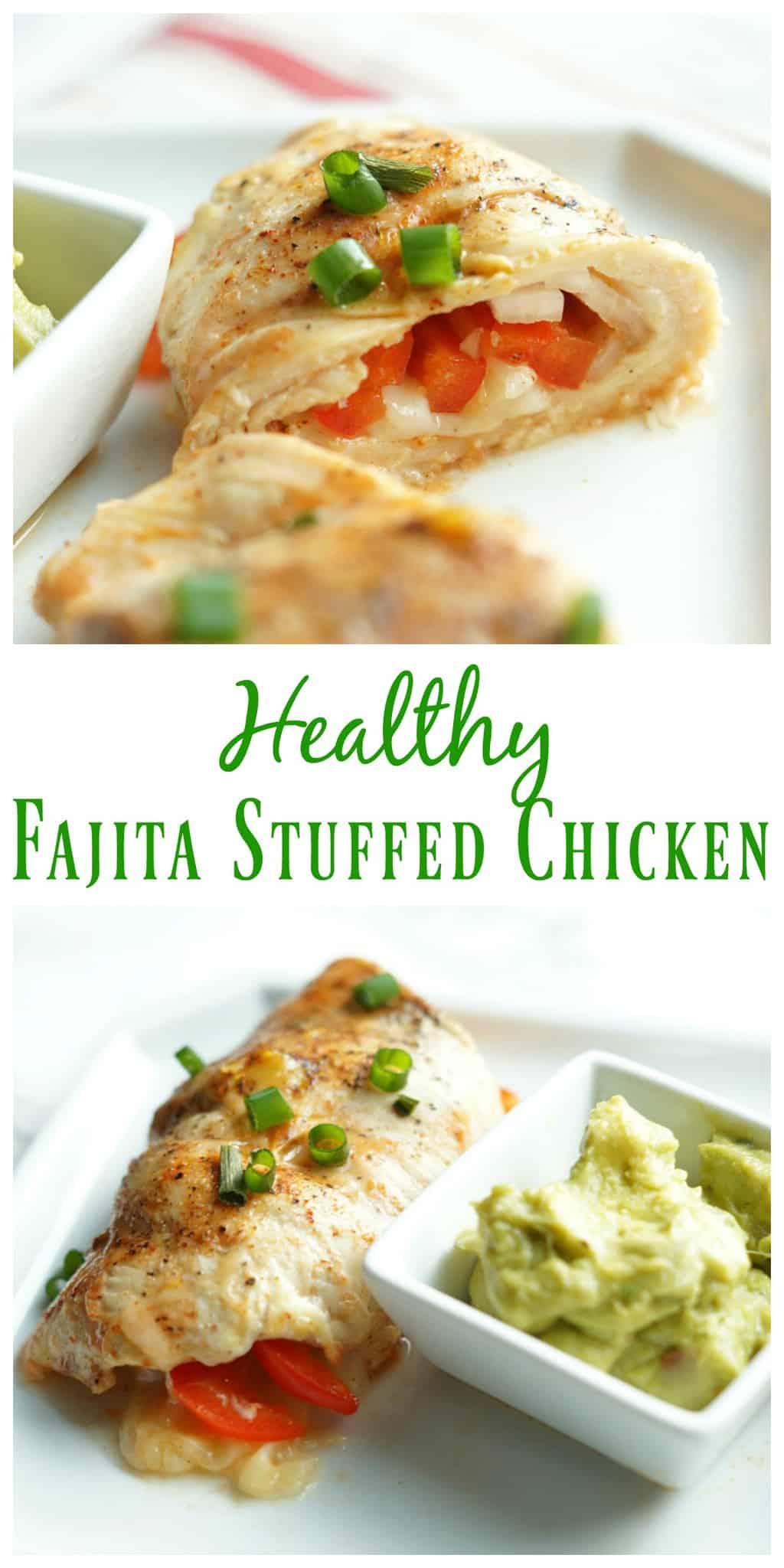 Healthy fajita stuffed chicken pretty providence forumfinder Choice Image