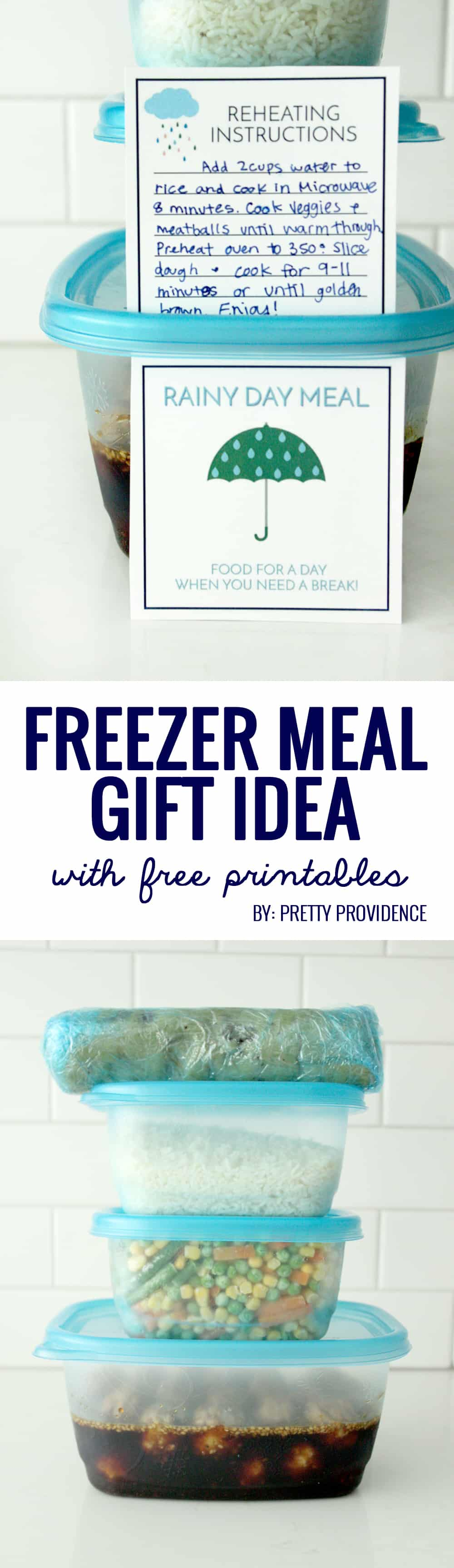 I love taking freezer meals to friends who are sick or have new babies! Perfect little printable to go with!