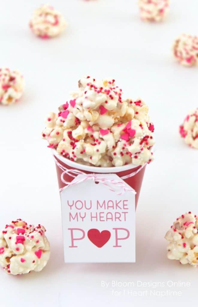 Popcorn Valentine from Iheartnaptime!