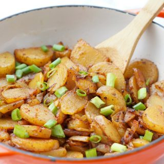 The Best Skillet Fried Potatoes with two secret ingredients that make these extra delicious!