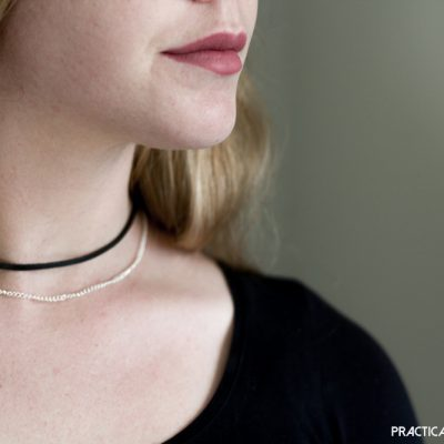 DIY Suede and Rose Gold Choker