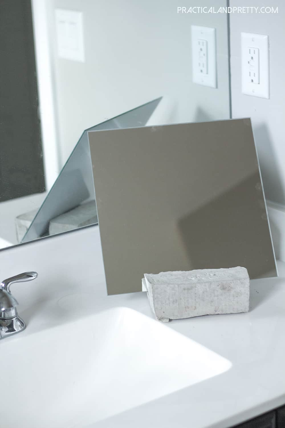 This super simple cement DIY will make your vanity that much more personalized. The industrial look is so cool too!
