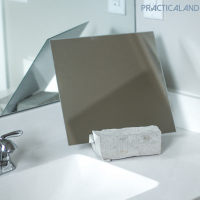 DIY Cement Vanity Mirror