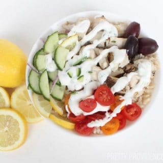 These healthy greek chicken bowls are SO AMAZING! They make eating healthy so much easier!