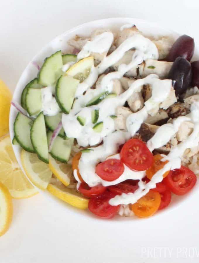 Healthy Greek Chicken Bowl