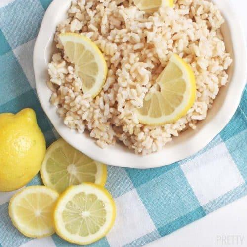 Easy Lemon Brown Rice