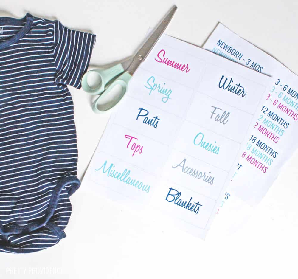 How to organize baby clothes for your next baby!