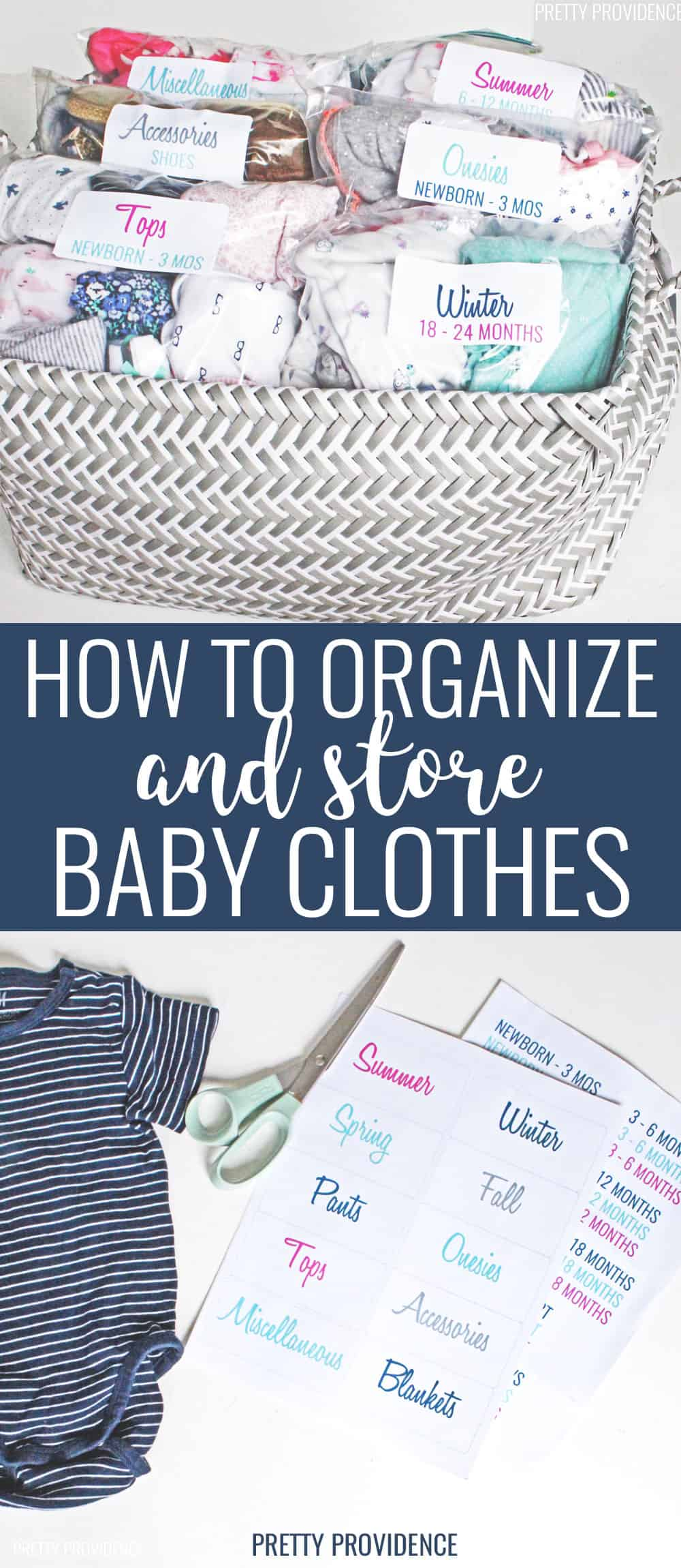 How to Organize Baby Clothes for the next baby
