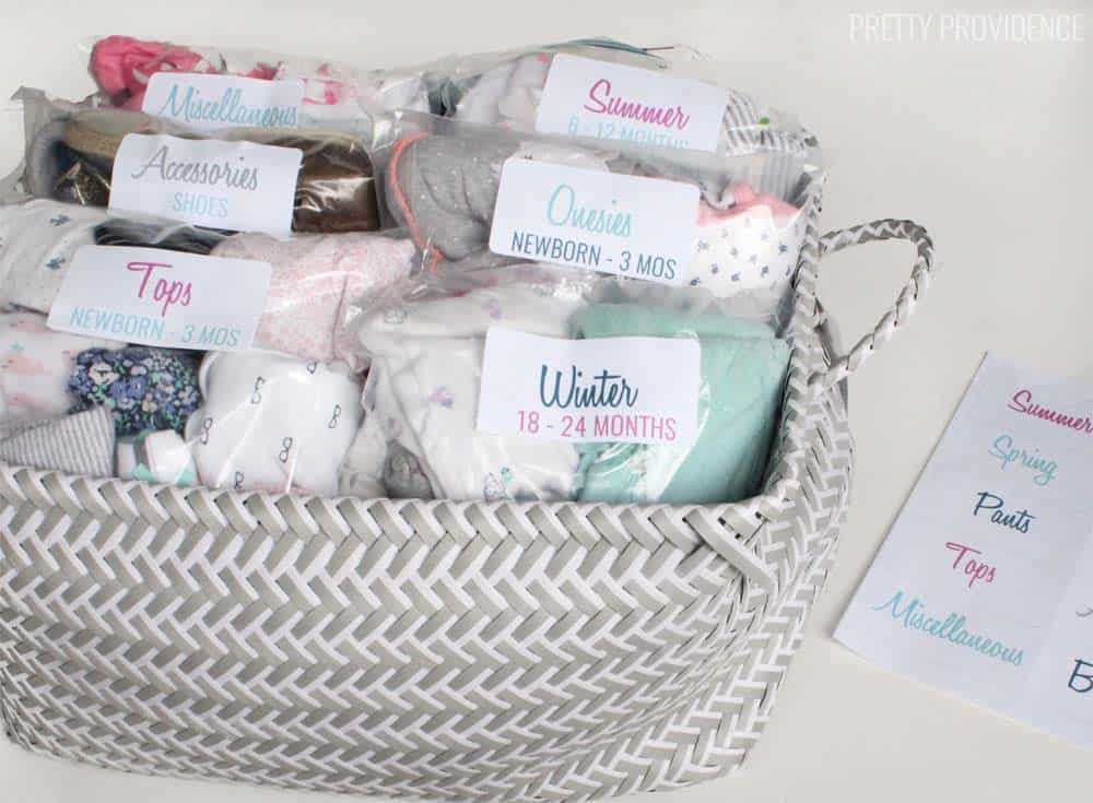 How To Organize Baby Clothes For Later Use Pretty Providence