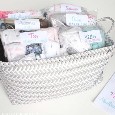 How to Organize Baby Clothes for Later Use