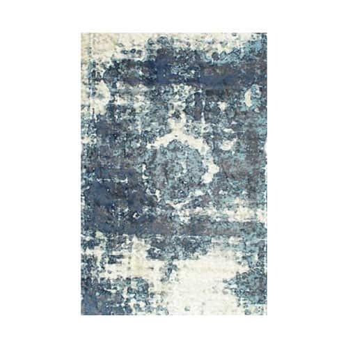 Distressed Blue Rug