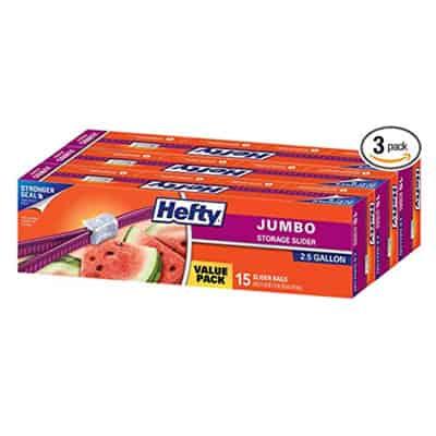 Hefty Jumbo Ziploc Bags