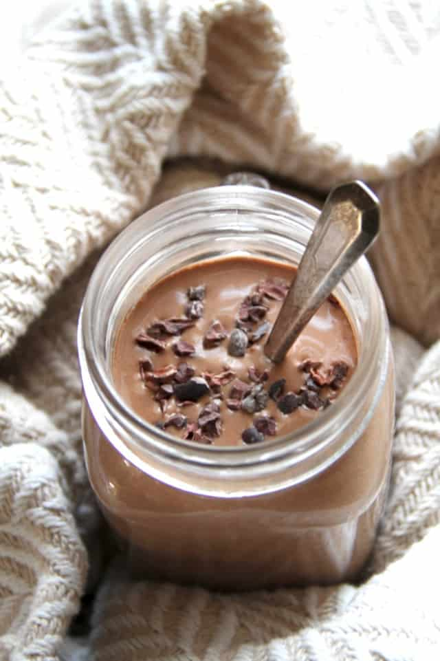 Hot Chocolate Breakfast Smoothie from Running with Spoons