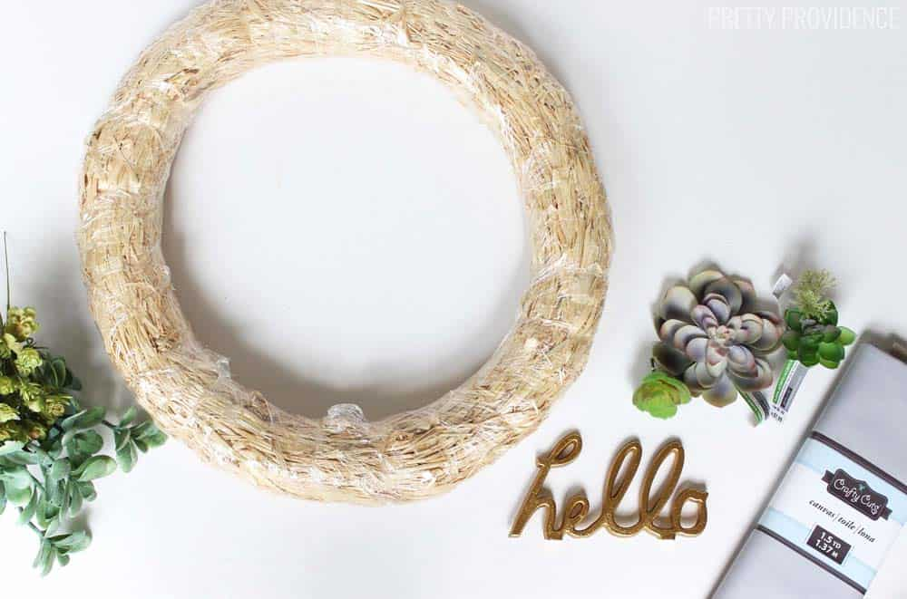 I love this easy, neutral succulent wreath!