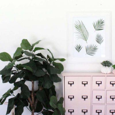 DIY Tropical Leaf Wall Art