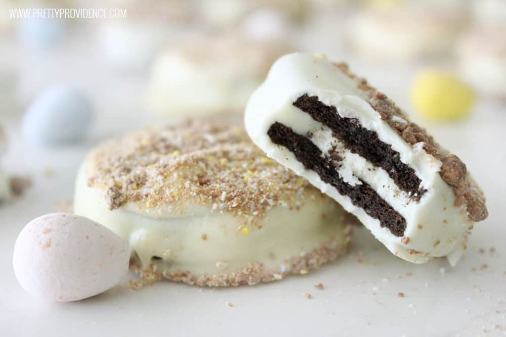 White chocolate covered Oreos
