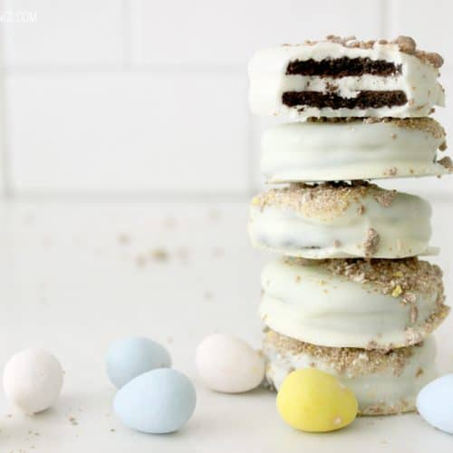 White Chocolate Cadbury Covered Oreos