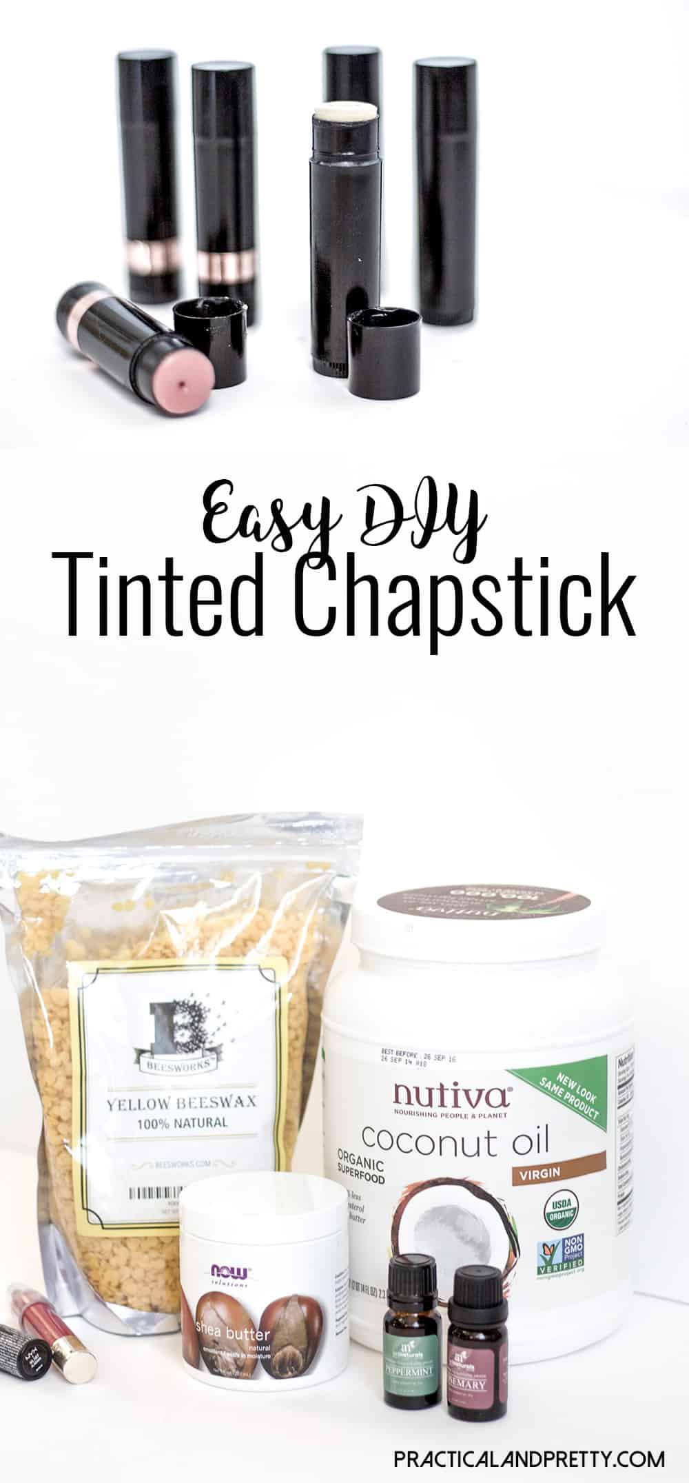 Making your own tinted chapstick is so simple. You'll wonder why you hadn't done it sooner!