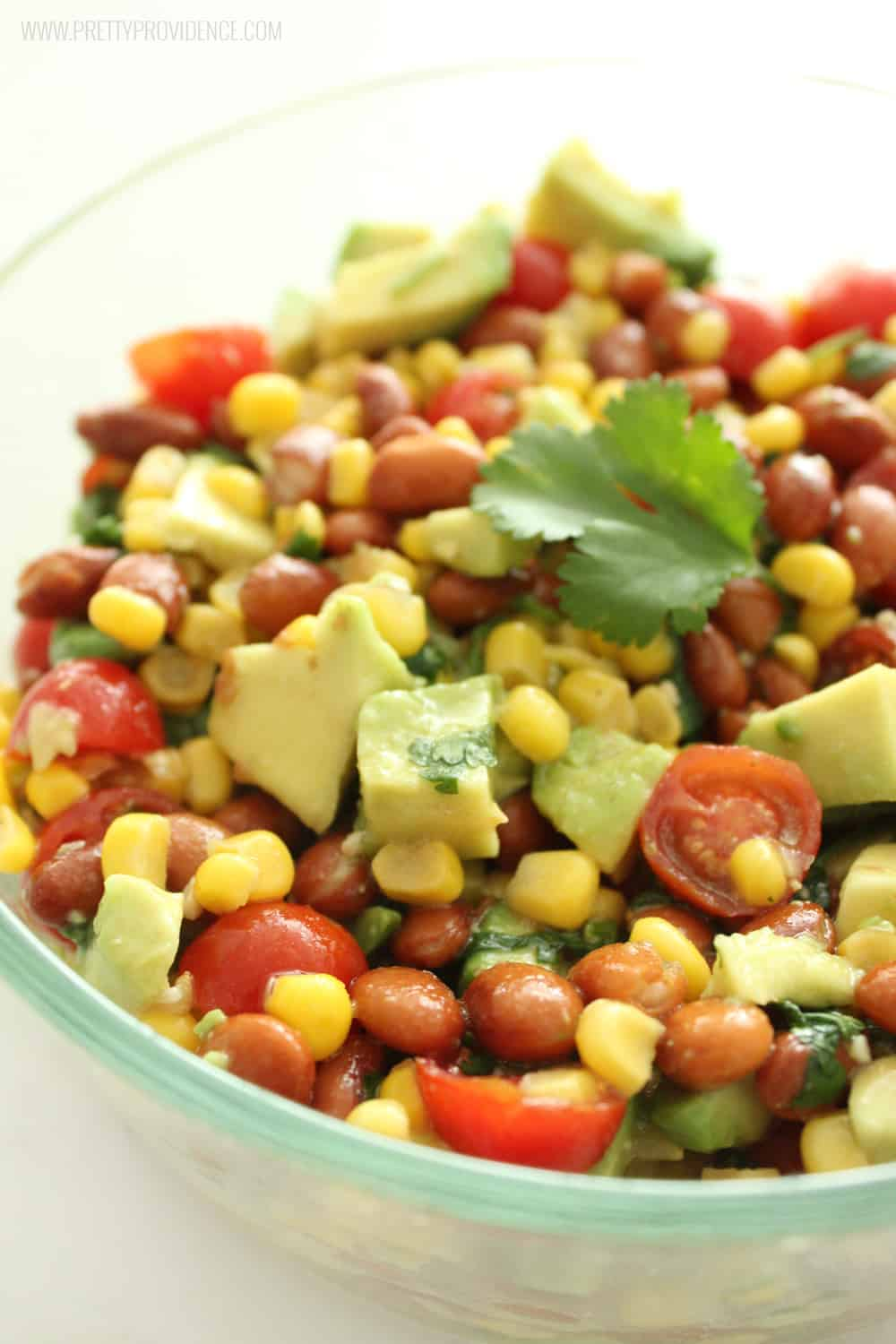 Hands down this is the best corn salsa EVER!! The light vinaigrette on the top is so good I could drink it! It's healthy and quick to whip together too!