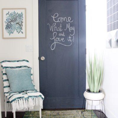 How to Paint a Chalkboard Door