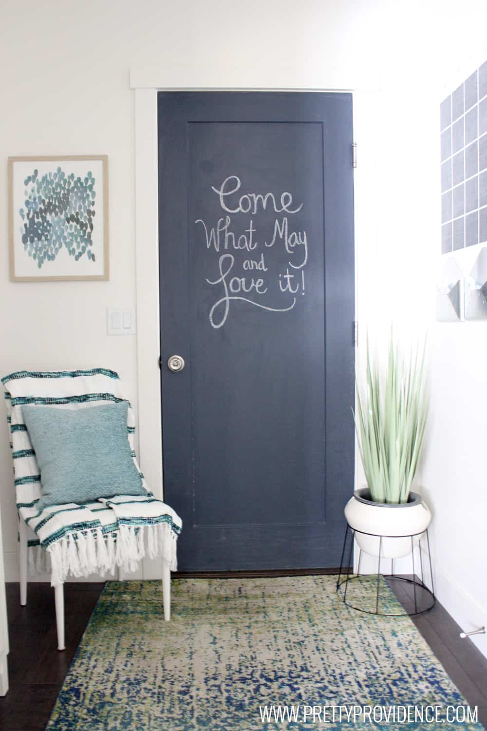 & How to Paint a Chalkboard Door