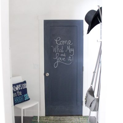 Tiny + Functional Mudroom Reveal