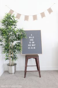 """I am in love with this """"where the wild things are"""" baby shower! Includes free printable signs and food tags and could work for either gender!"""