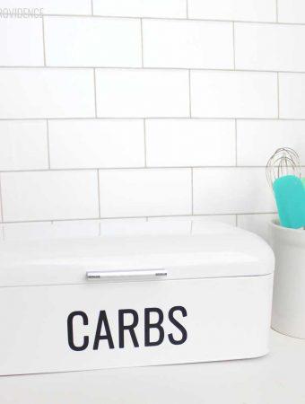 Retro 'Carbs' Bread Box