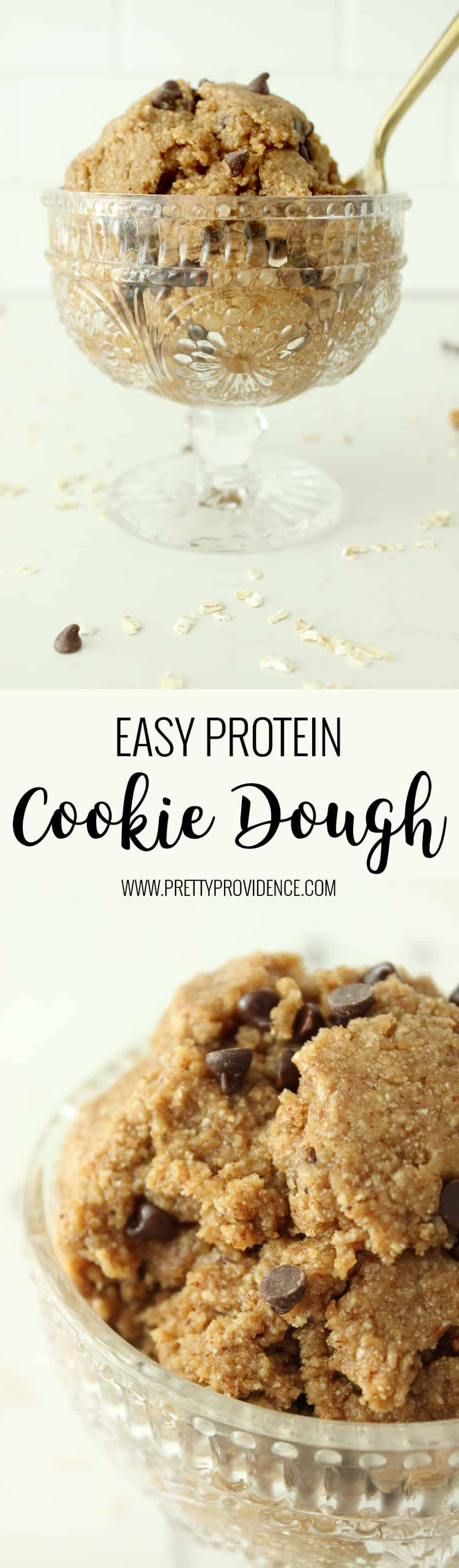 If you need a healthy treat fix this easy protein cookie dough is amazing.. and totally guilt free!