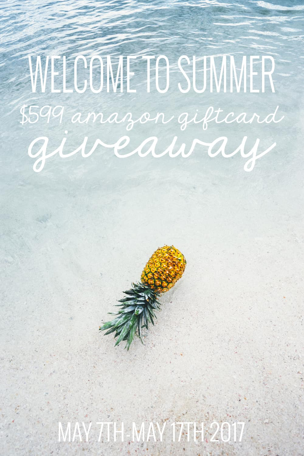 Enter to win $599 Amazon Giftcard in our BIG GIVEAWAY! Perfect to celebrate summer with!