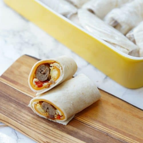Make Ahead and Freeze Breakfast Wraps