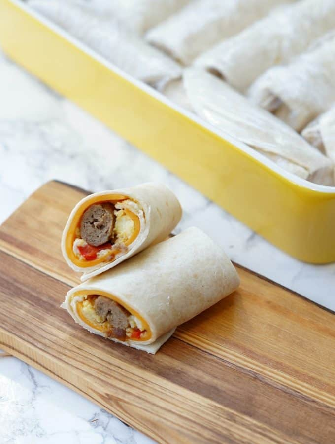 Make Ahead and Freeze Breakfast Wraps