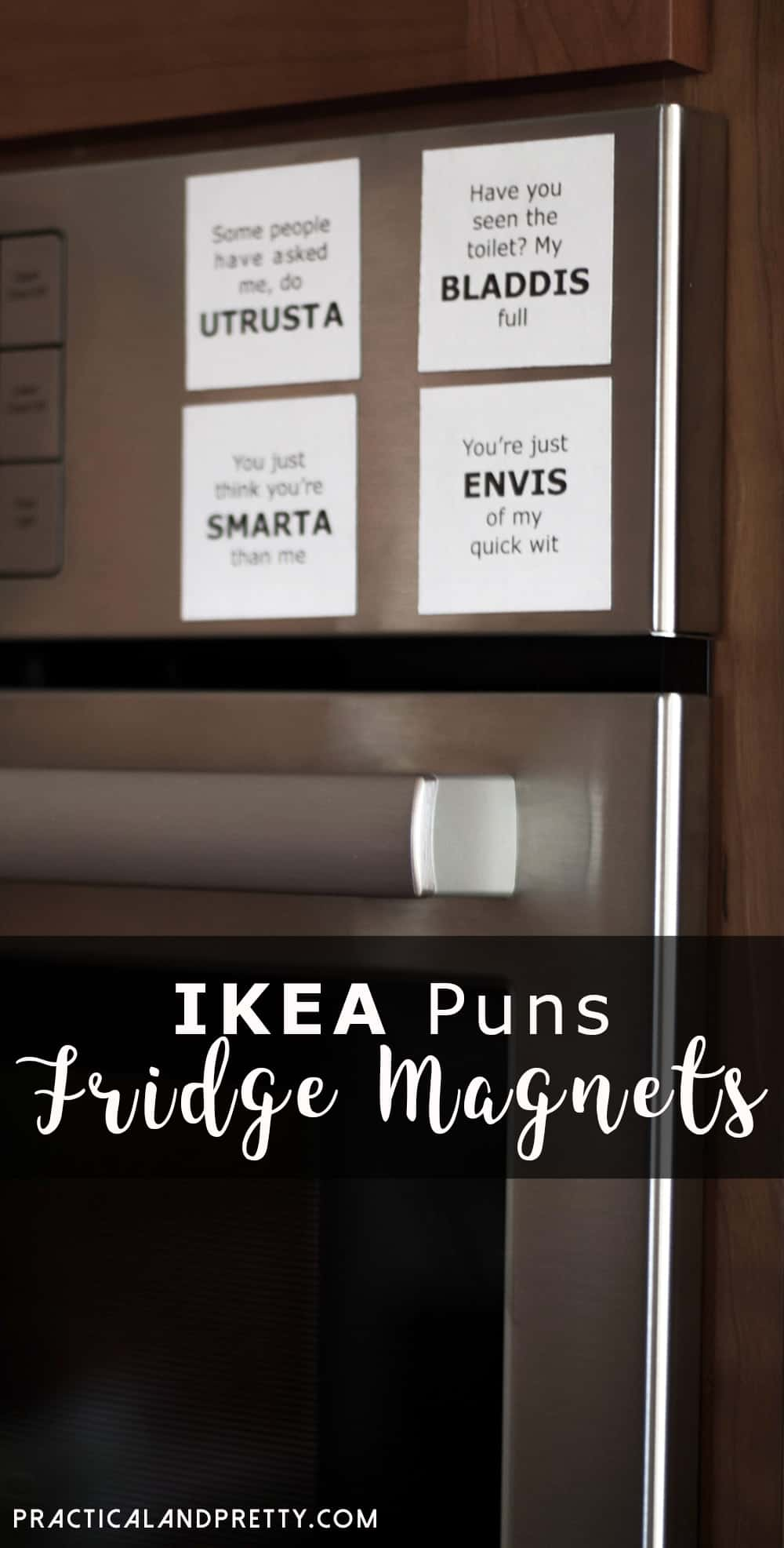 If you love IKEA you need these funny pun magnets in your kitchen or anywhere in your home!