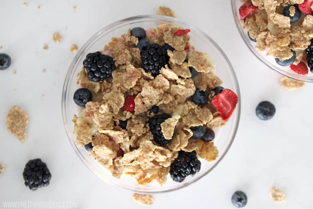I'm obsessed with these Special K breakfast bowls!! They are easy, delicious, and healthy! It's so good as a side to lunch or dinner too, or even for healthy dessert!