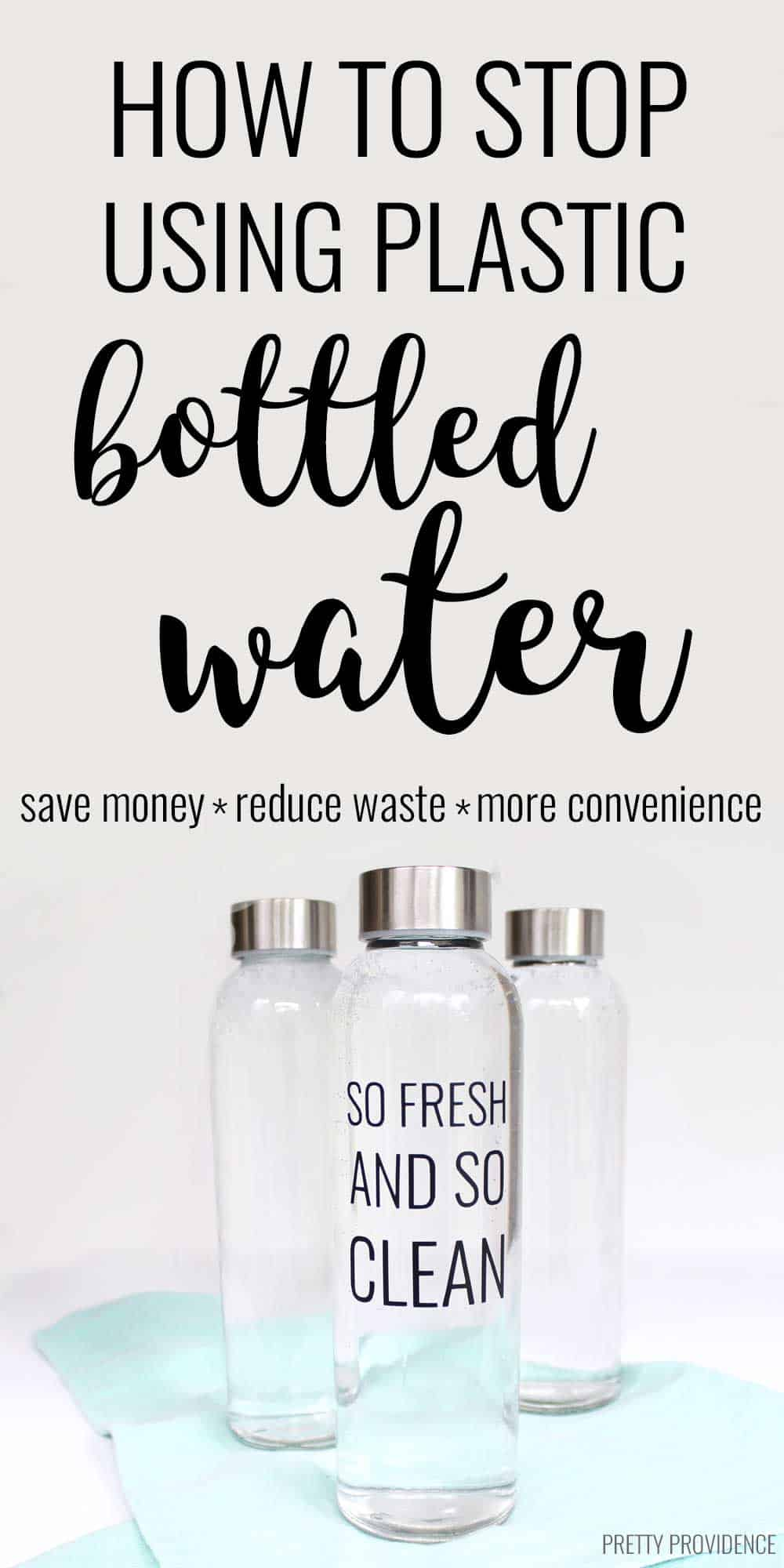 I wanted to stop using plastic bottled water & finally kicked the habit! Seriously so liberating!