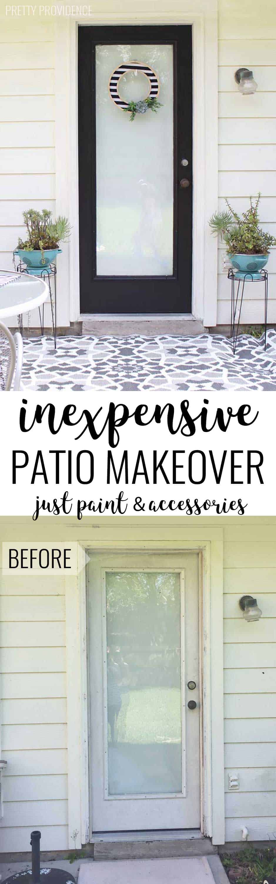The power of PAINT! This door and patio area looks incredible and the transformation barely cost anything!