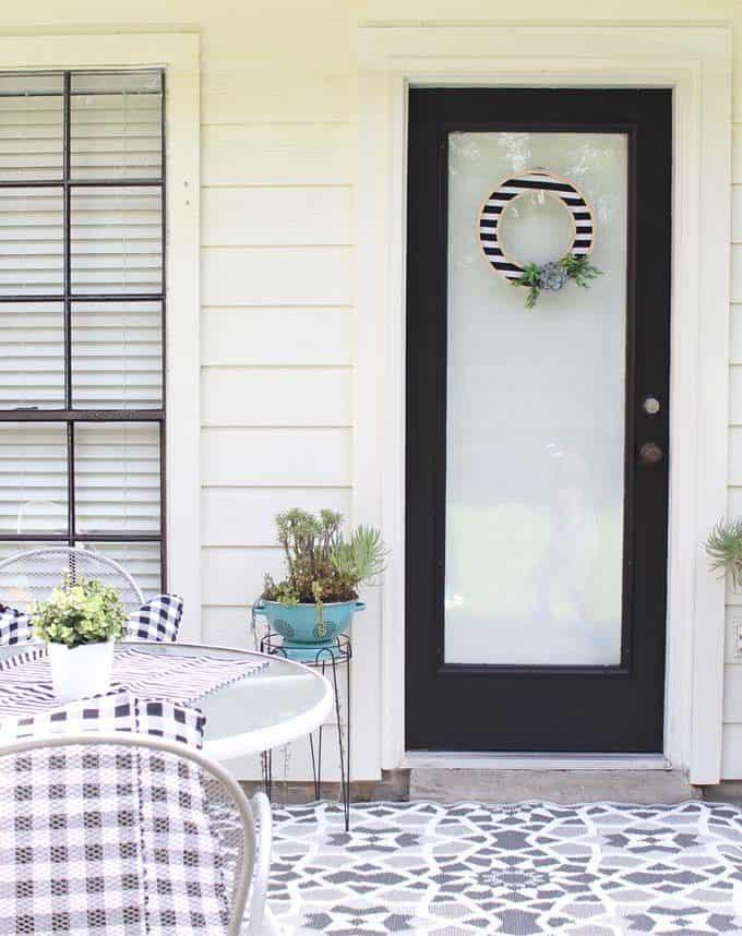 Black Patio Door Makeover