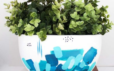 Painted brush stroke planter! So fun and EASY