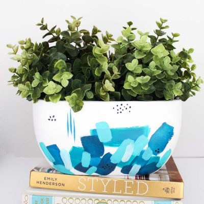 Brushstroke Painted Planter