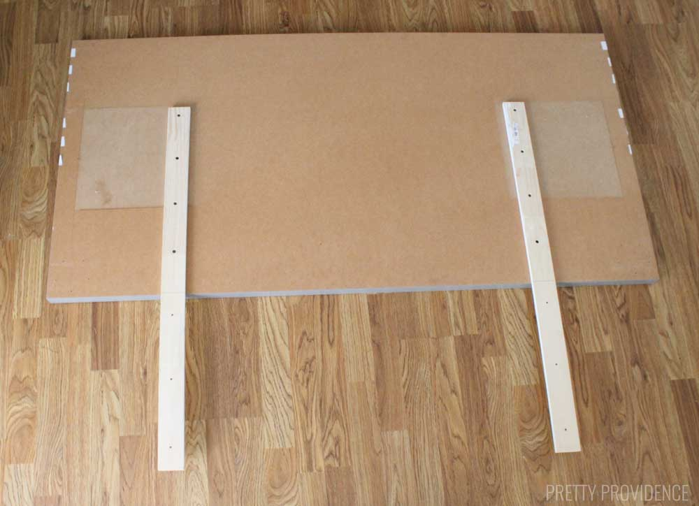This IKEA hack headboard is under $50 to make!
