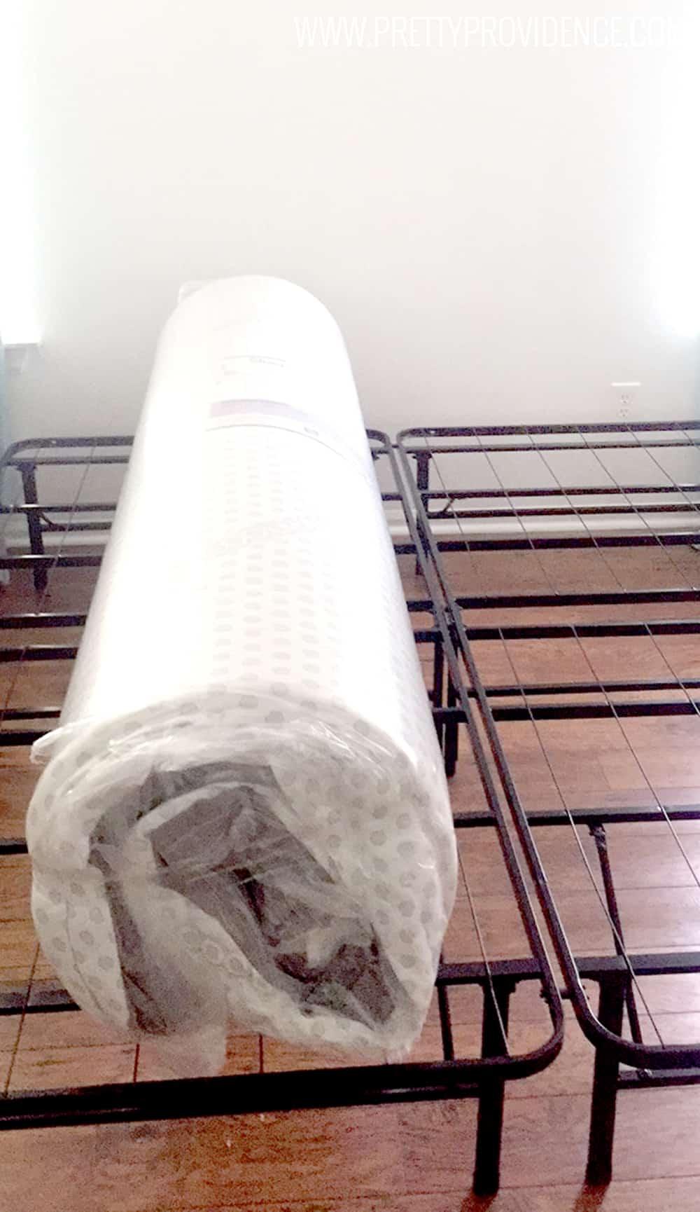 mattress-rolled