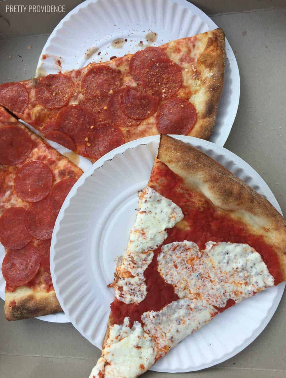 Cheap, AMAZING pizza is everywhere in NYC!