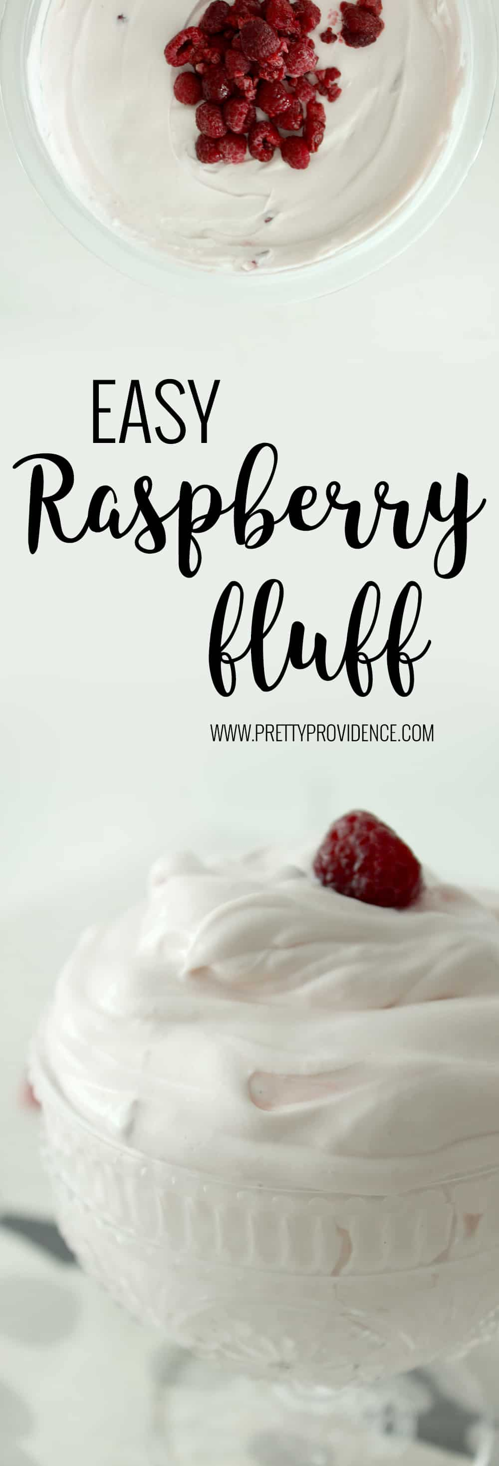 Delicious raspberry fluff! Perfect side for brunch or any BBQ! Everyone always raves about it and it is SO easy to whip up!