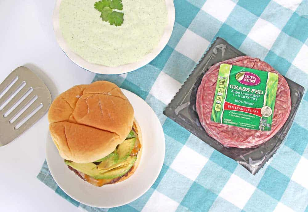 This jalapeño ranch burger is SO good and way easy to make at home! Pretty mild spiciness but perfect flavor!