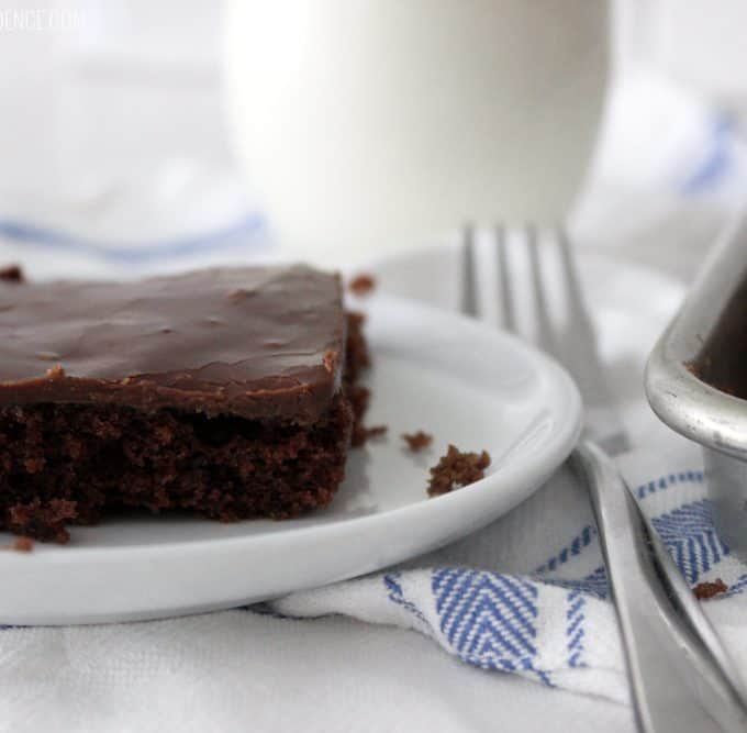 You NEED this texas sheet cake recipe in your life. It is far and away the most perfect Texas sheet cake I've ever had!
