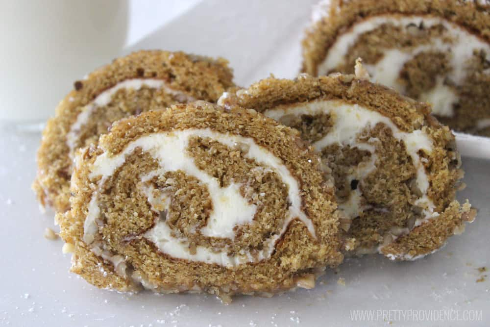 FIVE STARS for this easy classic pumpkin roll cake! Literally melt in your mouth heaven! Don't be intimidated, you can totally do this!
