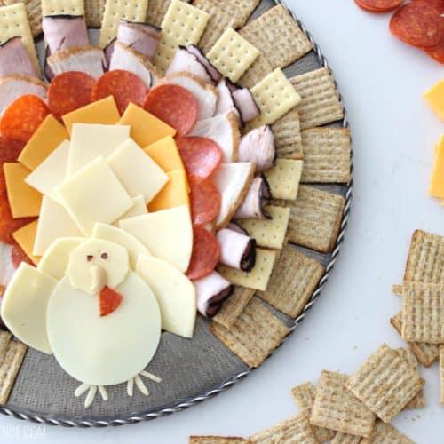 Thanksgiving Turkey Cheese Platter