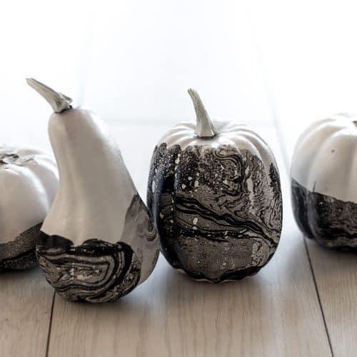 Water Marbled Pumpkins