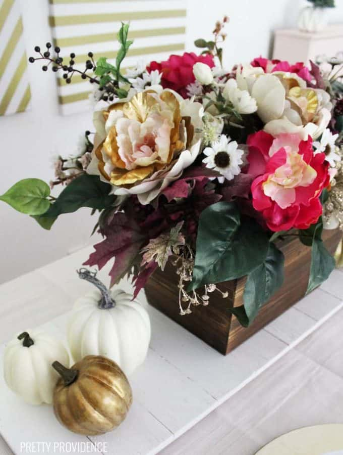 Floral Fall Table